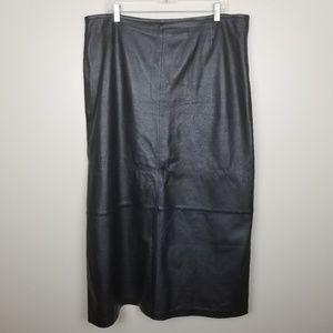 Wilson's Leather Black Maxi Skirt size 18